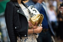 paper gold bag @ studded-hearts.com