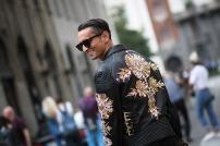 embellishment on leather jacket @ highsnobiety.com