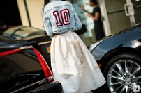denim jacket + long full skirt @ Le-21eme.com