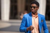 bright blue blazer @ lorrainelieu.blogspot.com