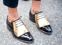 golden flap shoe @ skinnyhipster.com