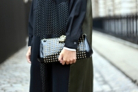 studded clutch bag @ memoirmode.com