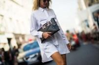 white shirt-dress & nº21 clutch bag @ stylesnooperdan.com
