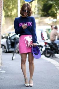 kenzo pink and transparent clutch bag @ thecitizensoffashion.com