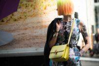 yellow neon hair and bag match @ wmagazine.com