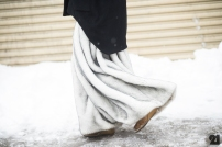 white fur wide leg trousers @ le-21eme.com