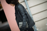 grey braided clutch bag @ wmagazine.com